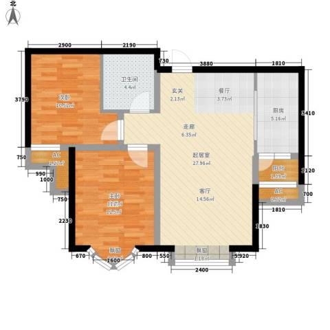 富贵嘉园2室0厅1卫1厨100.00㎡户型图