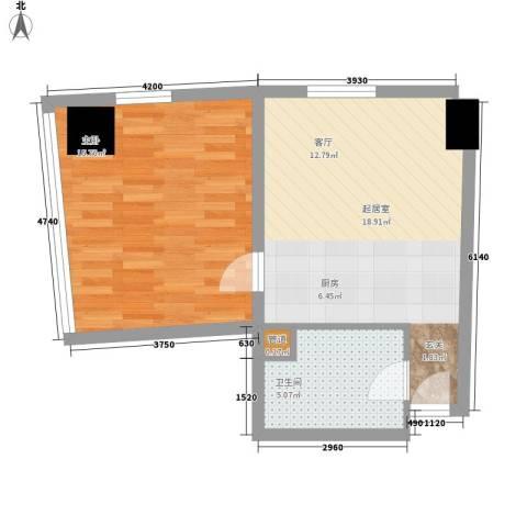 深圳湾1室0厅1卫0厨85.00㎡户型图