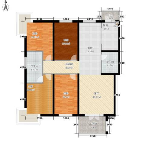 宝泰大厦4室0厅2卫1厨204.00㎡户型图