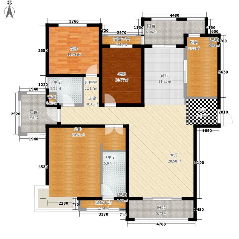 金屋秦皇半岛168.96㎡一区C户型3室2厅