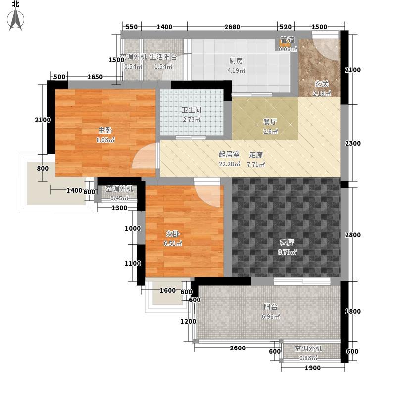 联发嘉园55.92㎡一期2号楼c-7户面积5592m户型