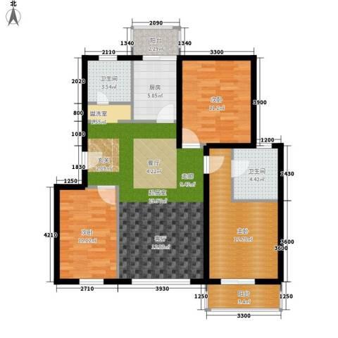 白河涧别墅3室0厅2卫1厨105.00㎡户型图