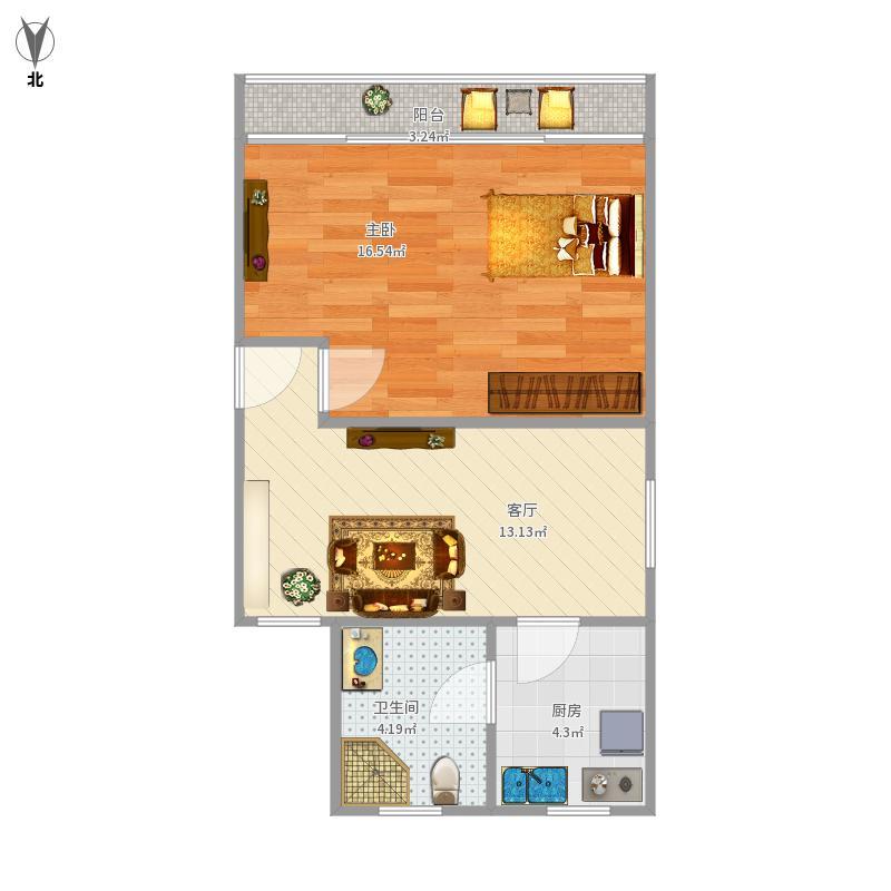 清涧三街坊55.7平方一房一厅