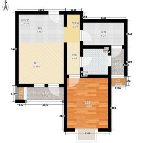 红磡领世郡1室0厅1卫1厨68.00㎡户型图