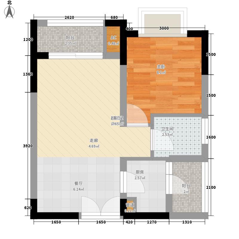 壹江城39.93㎡一期D4号楼标准层面积3993m户型