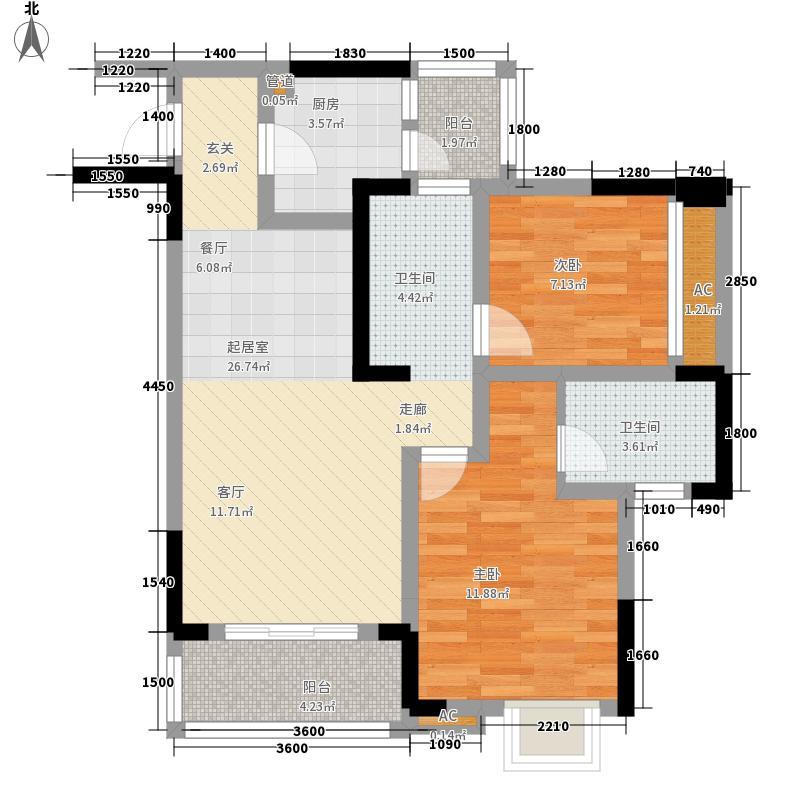 巨成龙湾67.02㎡9号楼2、4号房面积6702m户型