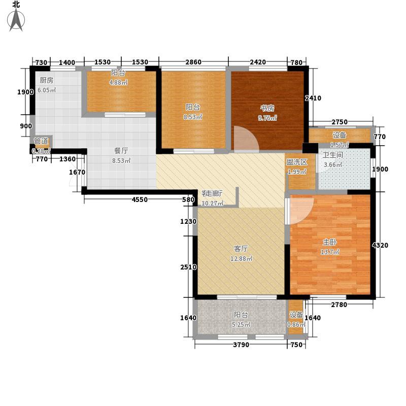 东方维罗纳101.00㎡南区高层49#-54#I户型2室2厅