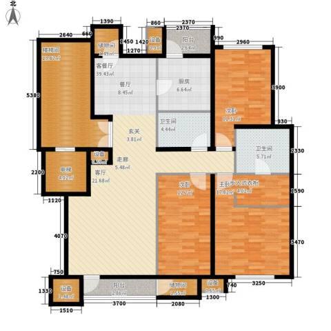 锦尚祥福居3室1厅2卫1厨181.00㎡户型图