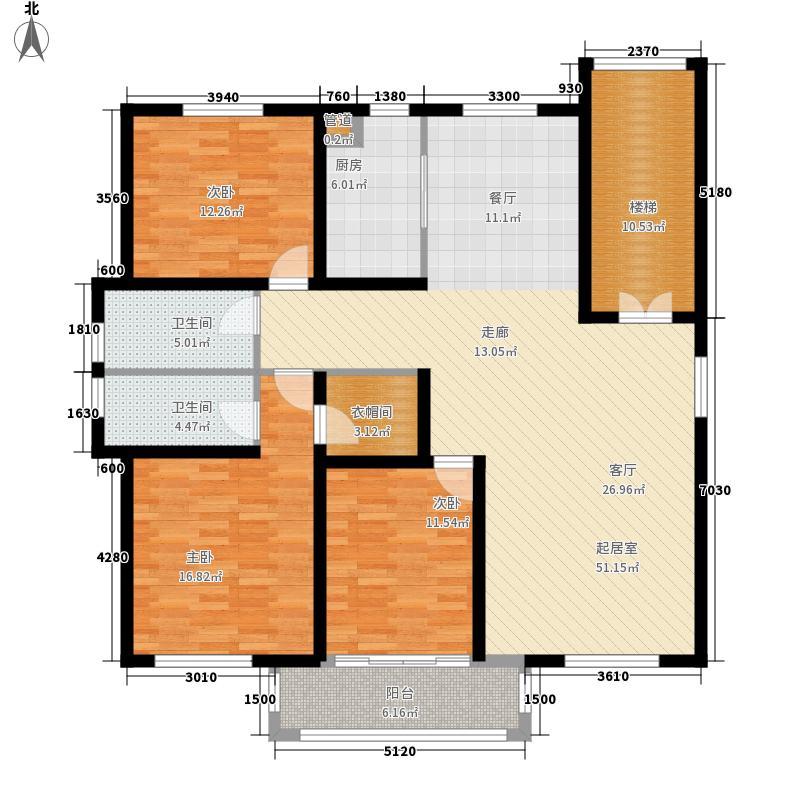 华辰鑫和花苑152.26㎡D1面积15226m户型