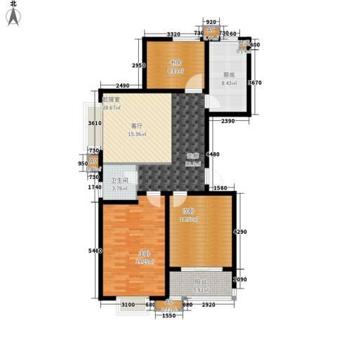 橄榄绿洲3室0厅1卫1厨129.00㎡户型图
