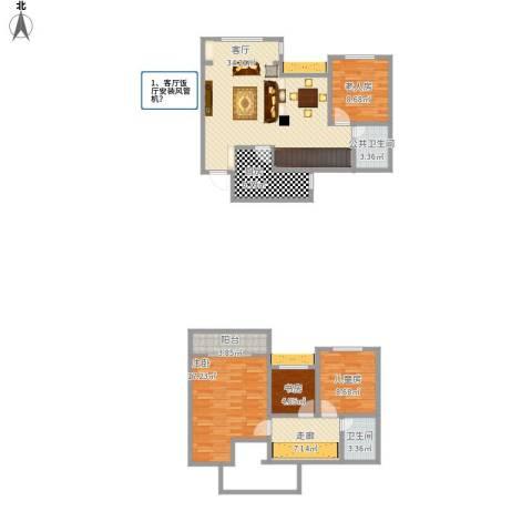 城海滨江春城一期4室1厅1卫1厨139.00㎡户型图