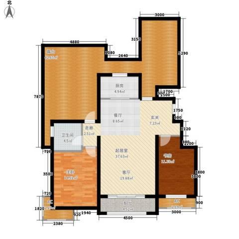 富立·秦皇半岛2室0厅1卫1厨151.00㎡户型图