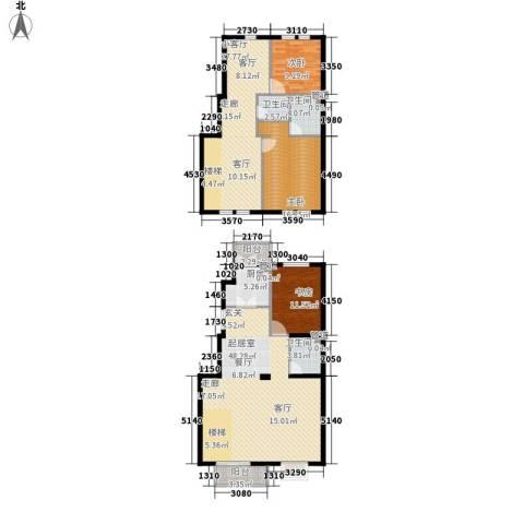御景龙湾3室0厅3卫1厨187.00㎡户型图