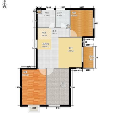 御景龙湾3室0厅1卫1厨132.00㎡户型图