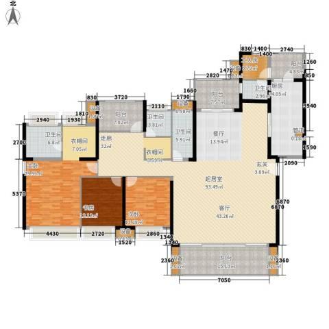 中信凯旋城3室0厅4卫1厨265.00㎡户型图