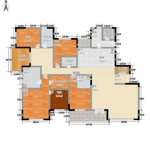 斌鑫世纪城5室1厅4卫1厨236.29㎡户型图