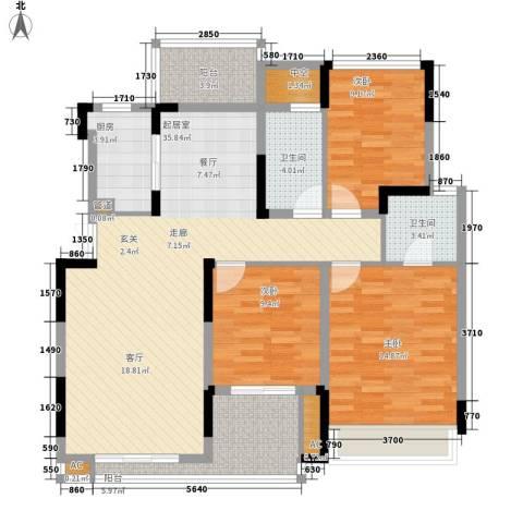 同创高原3室0厅2卫1厨108.00㎡户型图