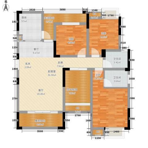 森望滟澜湖3室0厅2卫1厨144.00㎡户型图