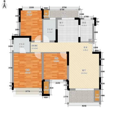 同创高原3室0厅2卫1厨106.00㎡户型图