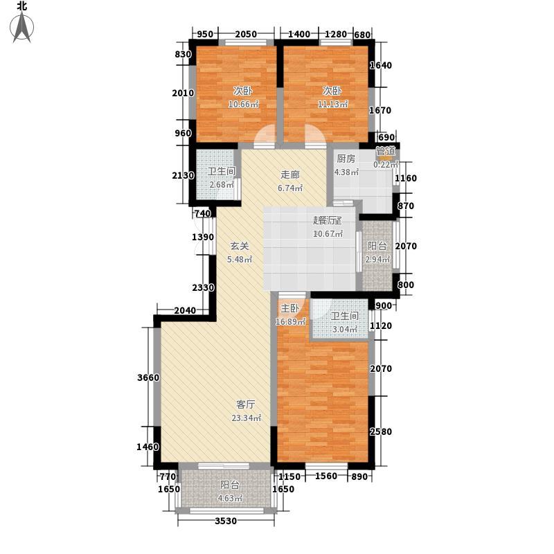 锦麟138.74㎡8号楼A2面积13874m户型