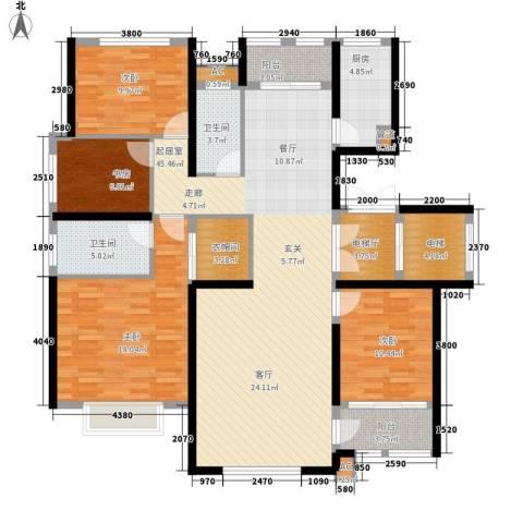 乡居假日二期香醍园4室0厅2卫1厨168.00㎡户型图