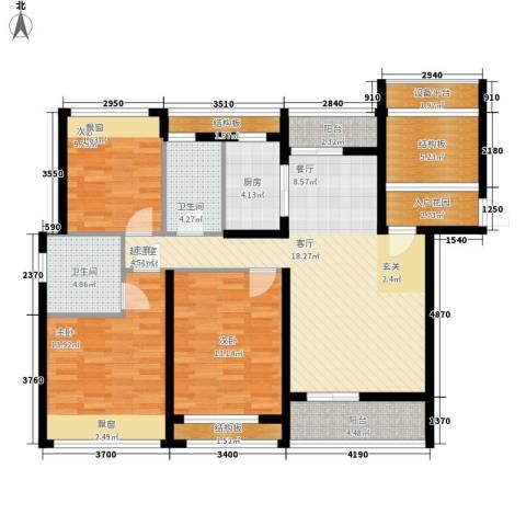 雄森・安仁新城3室0厅2卫1厨144.00㎡户型图