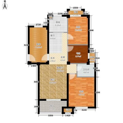 天一名都3室1厅1卫1厨133.00㎡户型图