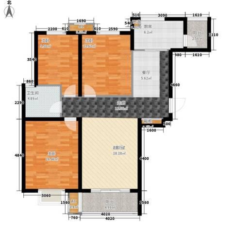 橄榄绿洲3室0厅1卫1厨138.00㎡户型图