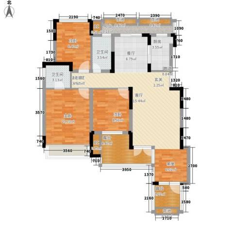 同创高原3室0厅2卫1厨111.00㎡户型图
