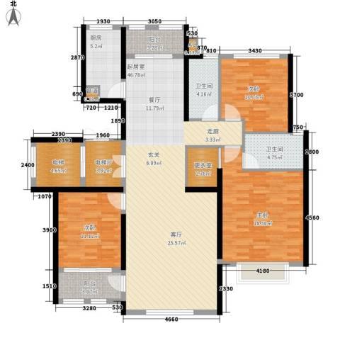 乡居假日二期香醍园3室0厅2卫1厨155.00㎡户型图