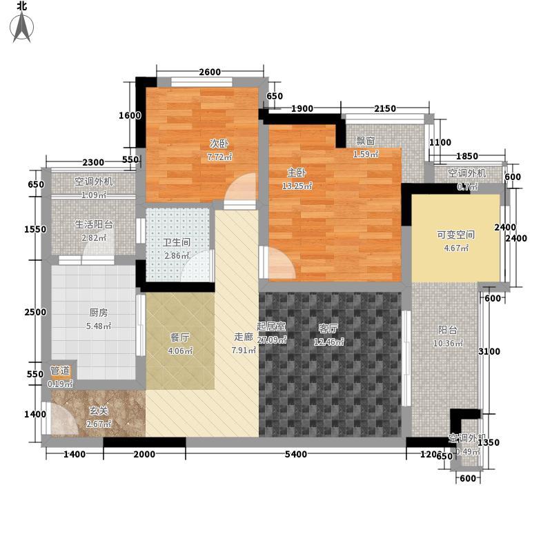 联发嘉园71.20㎡二期3号楼标准层面积7120m户型