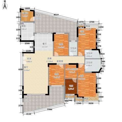 富逸臻园5室0厅3卫1厨235.00㎡户型图