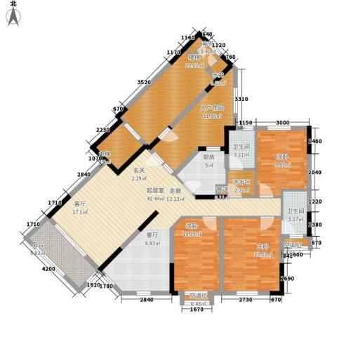 裕兴花园3室0厅2卫1厨123.89㎡户型图