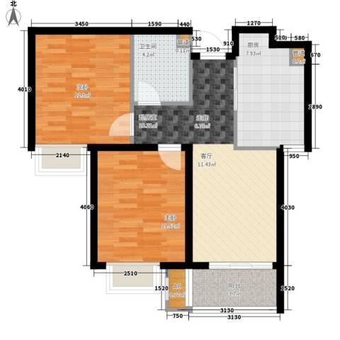 橄榄绿洲2室0厅1卫1厨85.00㎡户型图