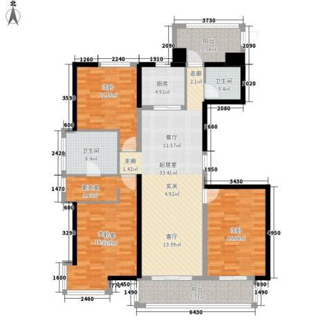 广场君府2室0厅2卫1厨156.00㎡户型图