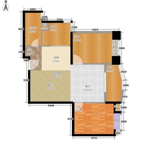 麓湖御景2室0厅1卫1厨115.00㎡户型图