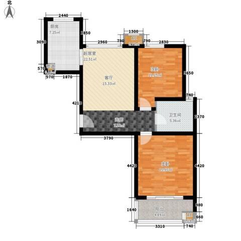 橄榄绿洲2室0厅1卫1厨99.00㎡户型图