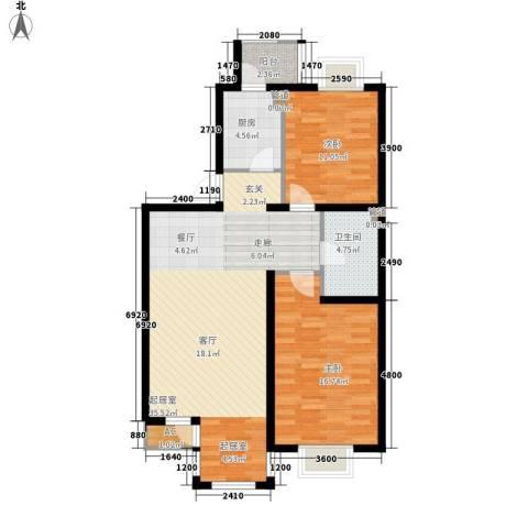 第六大道第博雅园2室0厅1卫1厨95.00㎡户型图
