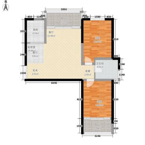 信泰金域仕家2室0厅1卫1厨94.00㎡户型图