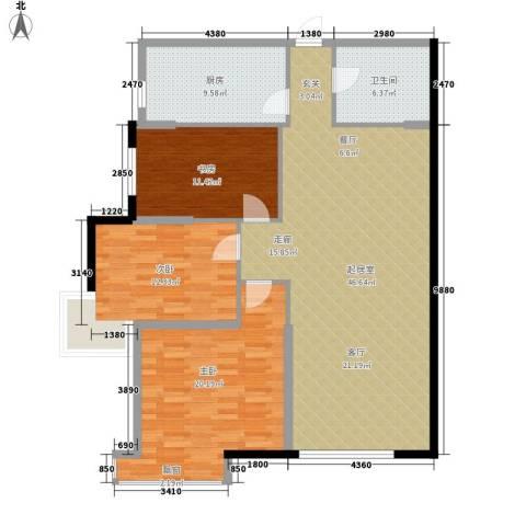 融富中心3室0厅1卫1厨117.00㎡户型图