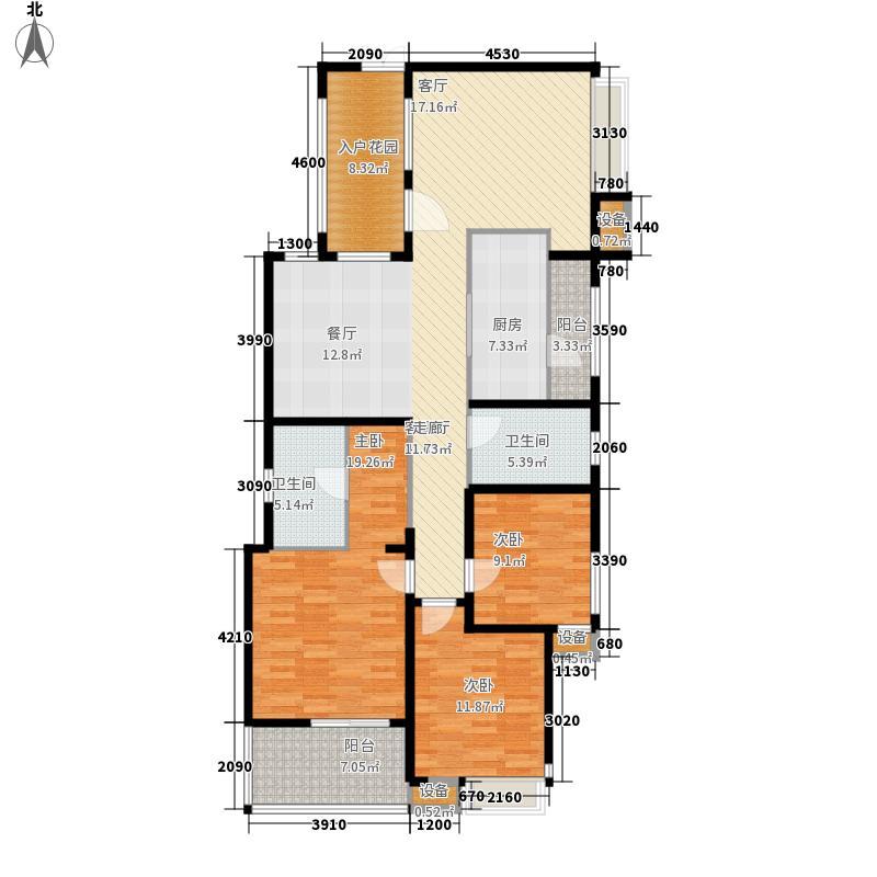 九龙仓时代上城135.00㎡D4户型3室2厅