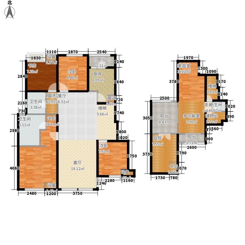 九龙仓时代上城158.00㎡1期29、32#标准层C2户型4室2厅