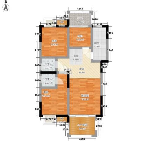 熙岸尚城二期3室0厅2卫1厨105.00㎡户型图
