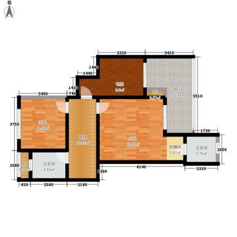 龙湖悠山香庭3室0厅2卫0厨144.00㎡户型图