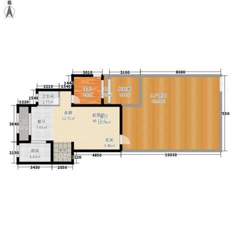 龙湖悠山香庭1室0厅1卫1厨144.00㎡户型图