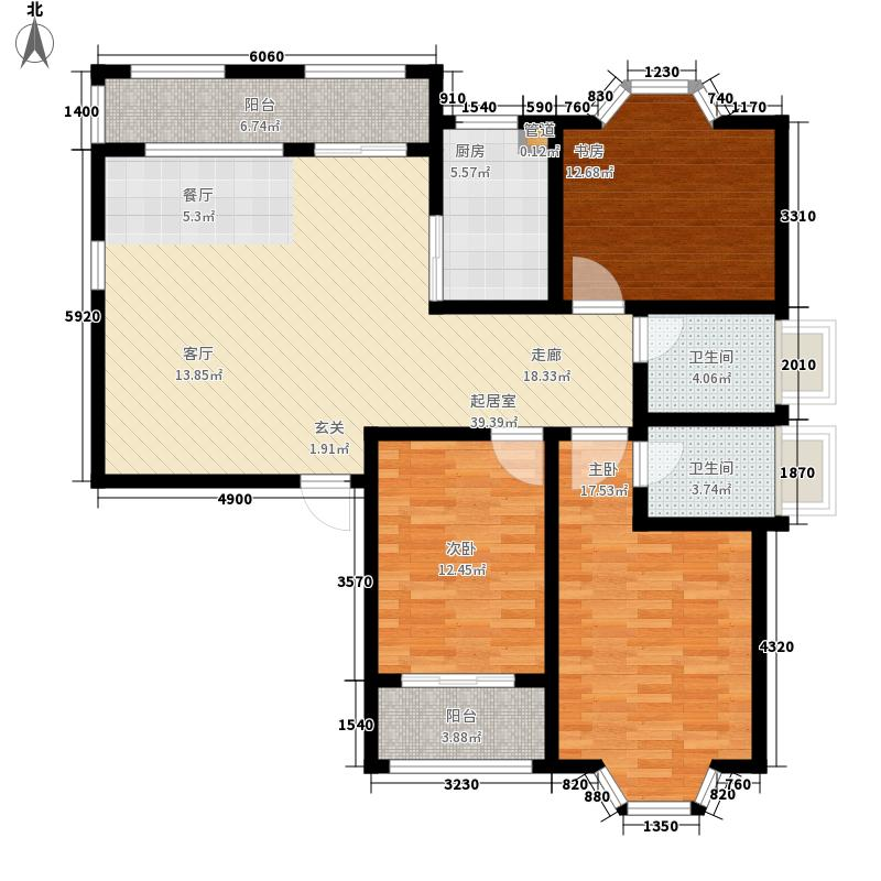 中南世纪城122.00㎡二期85、86、90、91#楼电梯洋房10层A户型
