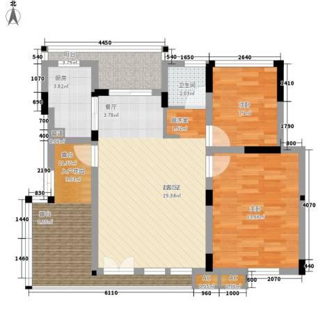 同创高原2室0厅1卫1厨79.00㎡户型图