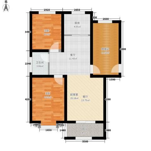 温阳海港城2室0厅1卫1厨79.00㎡户型图