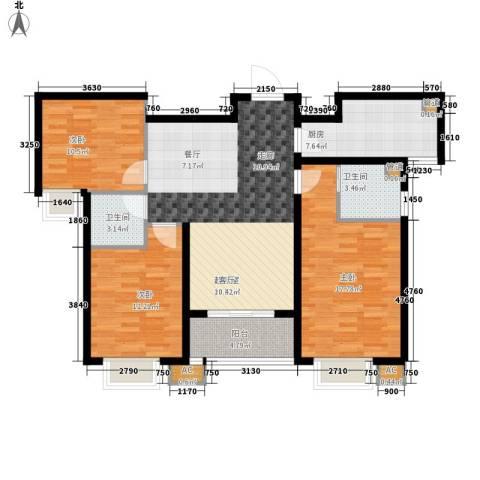 橄榄绿洲3室0厅2卫1厨128.00㎡户型图
