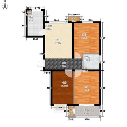 橄榄绿洲3室0厅1卫1厨121.00㎡户型图
